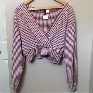 Forever21 cropped long sleeve shirt